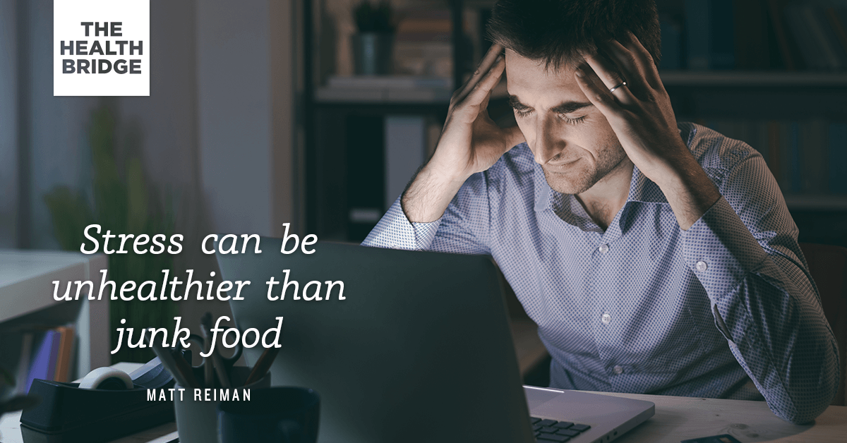 Stress Can Be Unhealthier Than Junk Food - @PH360me via @well_org