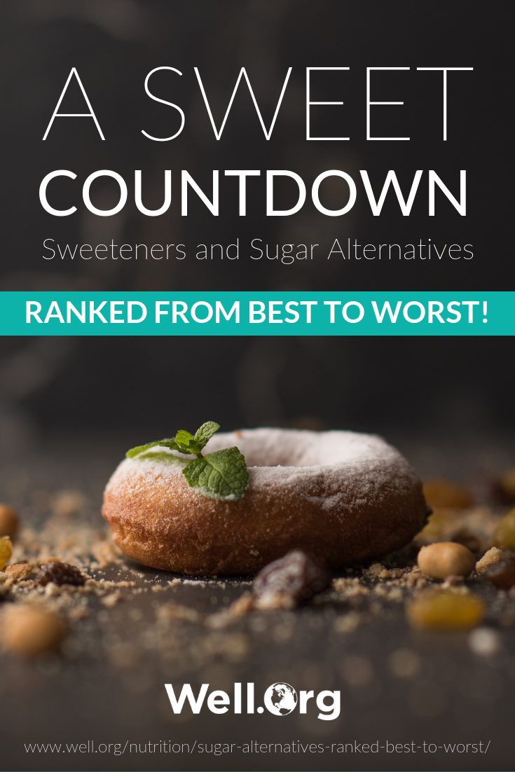 A Sweet Countdown – Sweeteners And Sugar Alternatives Ranked From Best To Worst! https://www.well.org/nutrition/sugar-alternatives-ranked-best-to-worst/