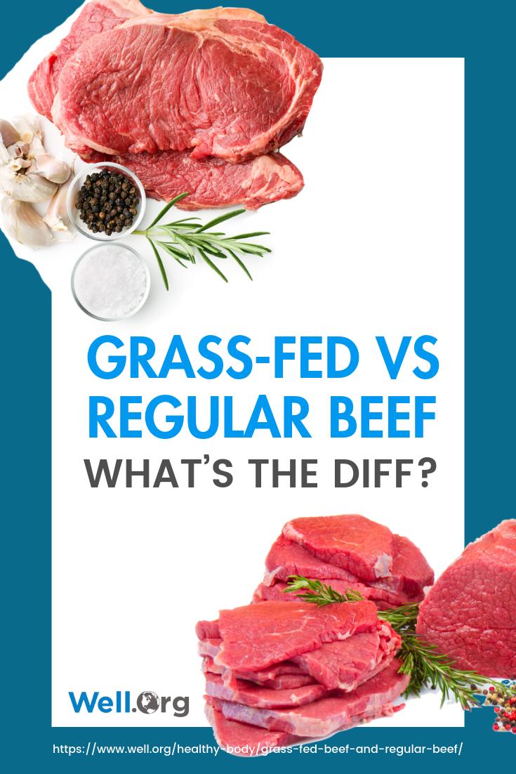 Grass-Fed vs Regular Beef - What's the Diff? https://well.org/healthy-body/grass-fed-beef-and-regular-beef/