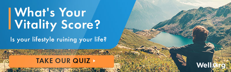 What's Your Vitality Score? Is your lifestyle ruining your life? TAKE OUR QUIZ