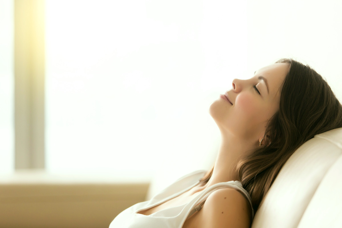 Relaxed young woman enjoying rest | Ways To Have A Balanced Microbiome