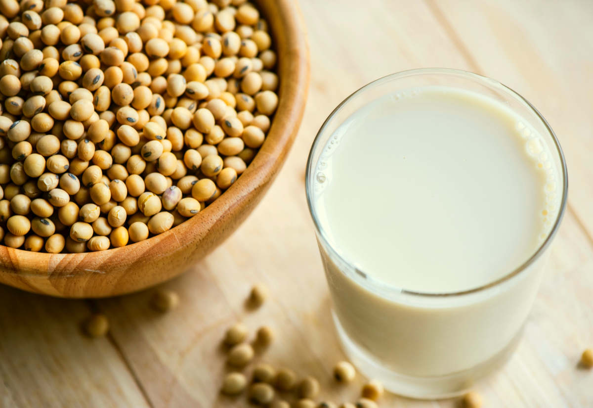 Soya beans and milk | Foods To Exclude From Your Gut Health Diet