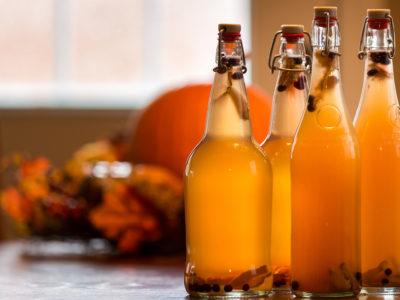 photo of bottle kombucha on table