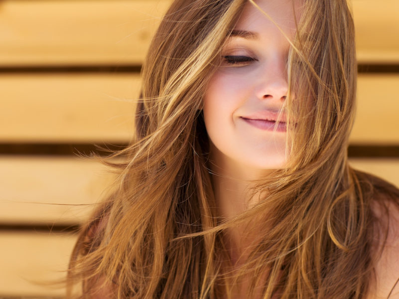 photo of woman with long beautiful hair