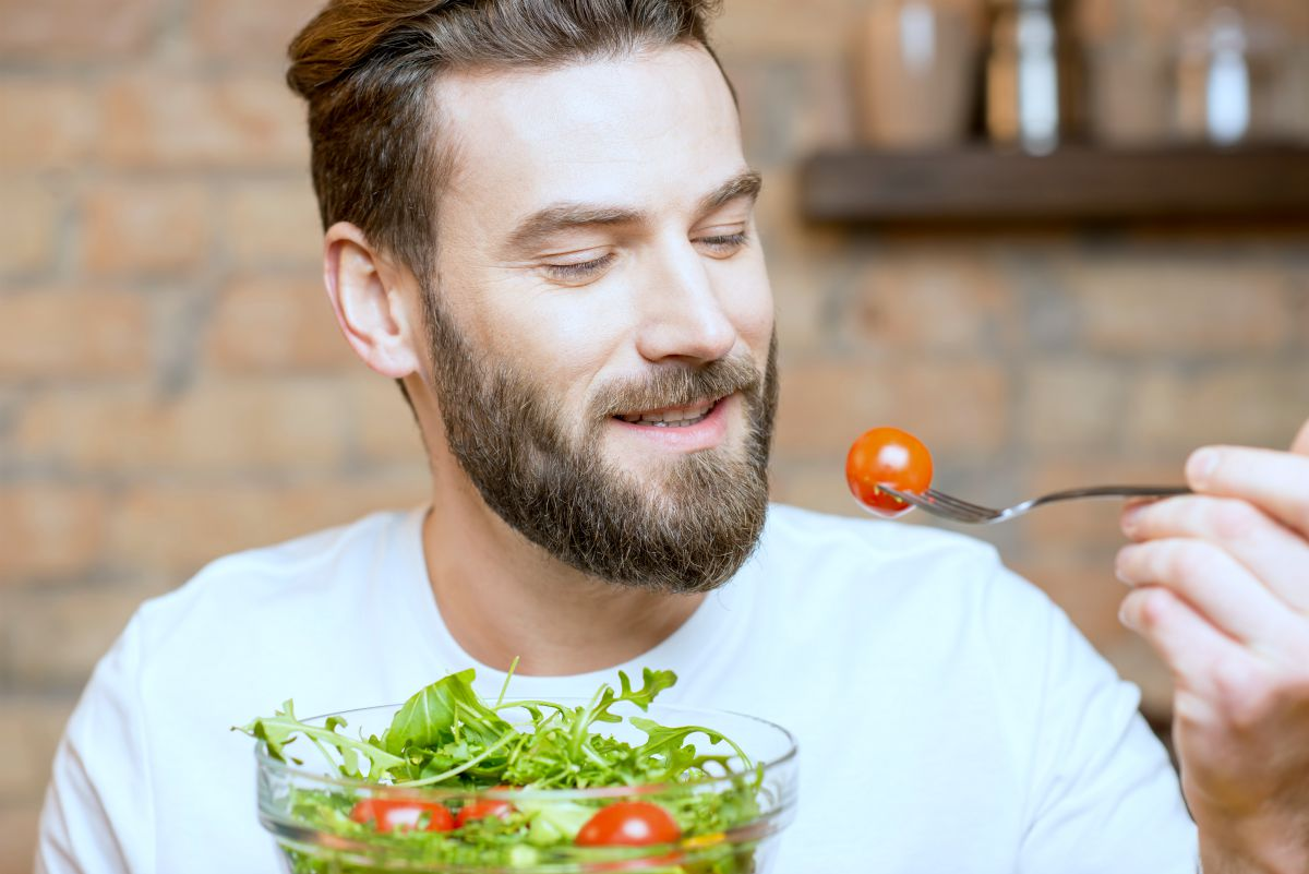 man eating veggies | Intermittent Fasting Tips And Tricks For Better Results | intermittent fasting