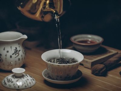 photo of tea being poured, herbs for memory and concentration