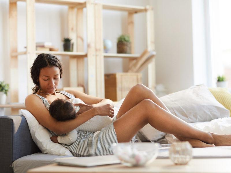 photo of mom breastfeeding baby